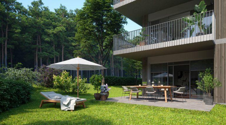 Die Südwestterrassen bzw. -balkone sind sonnenverwöhnt